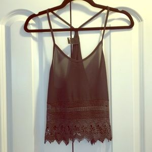 Black Lace Tank Top by Swell Size Small